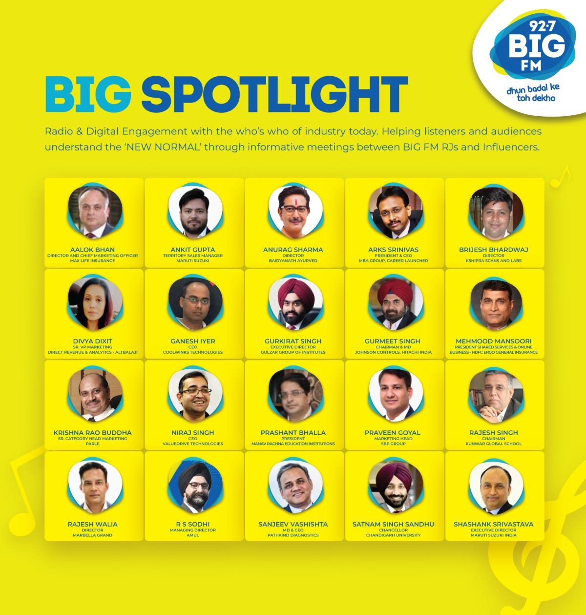 Big FM's 'Big Spotlight' sees exemplary leaders across industries inspire listeners during testing times
