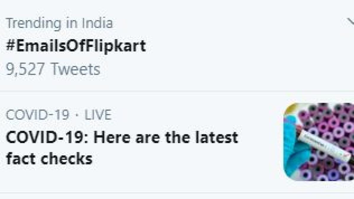 Flipkart's emails trend on Twitter