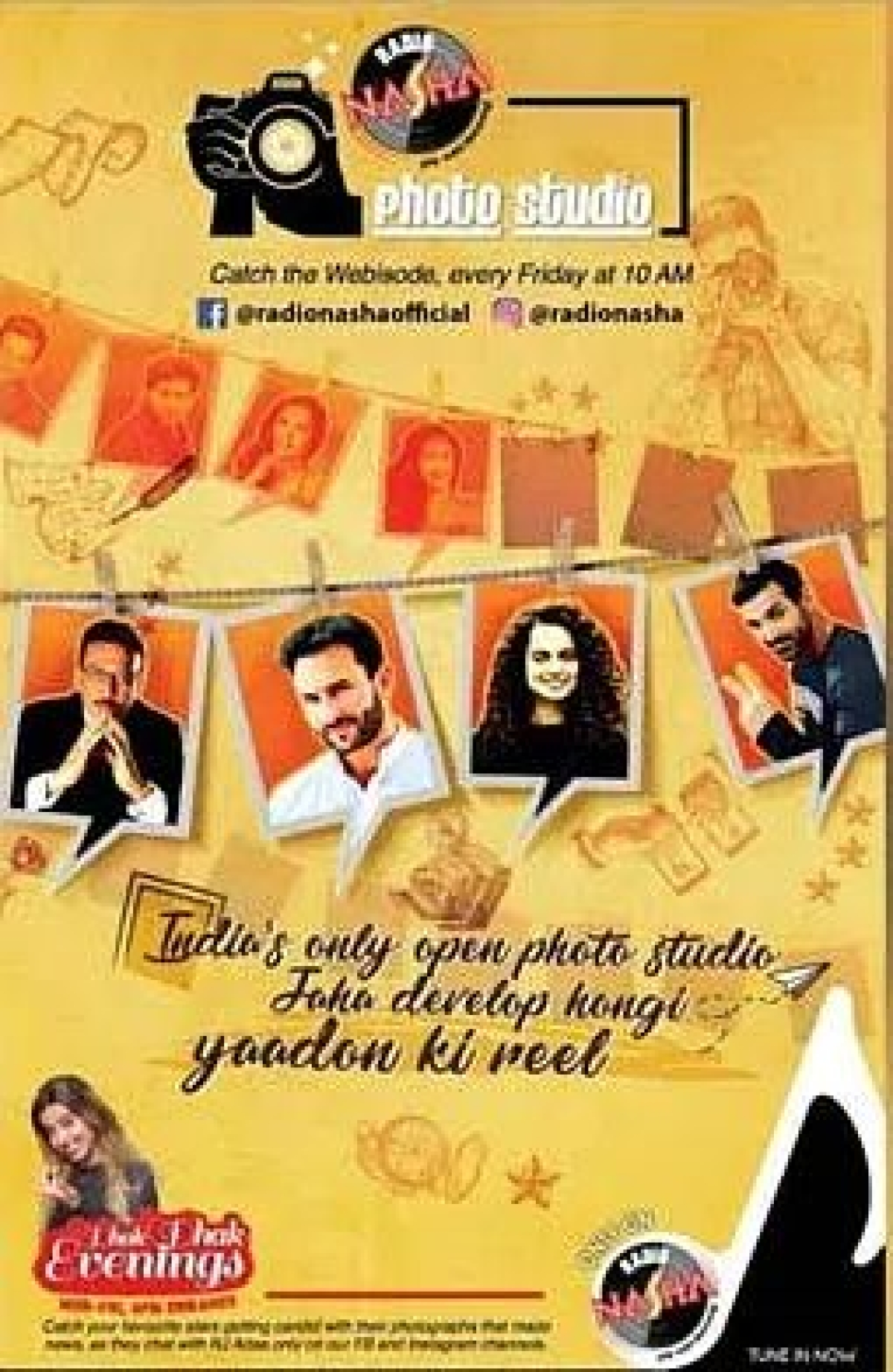 Radio Nasha launches Nasha Photo Studio, a trip down the memory lane with Bollywood superstars
