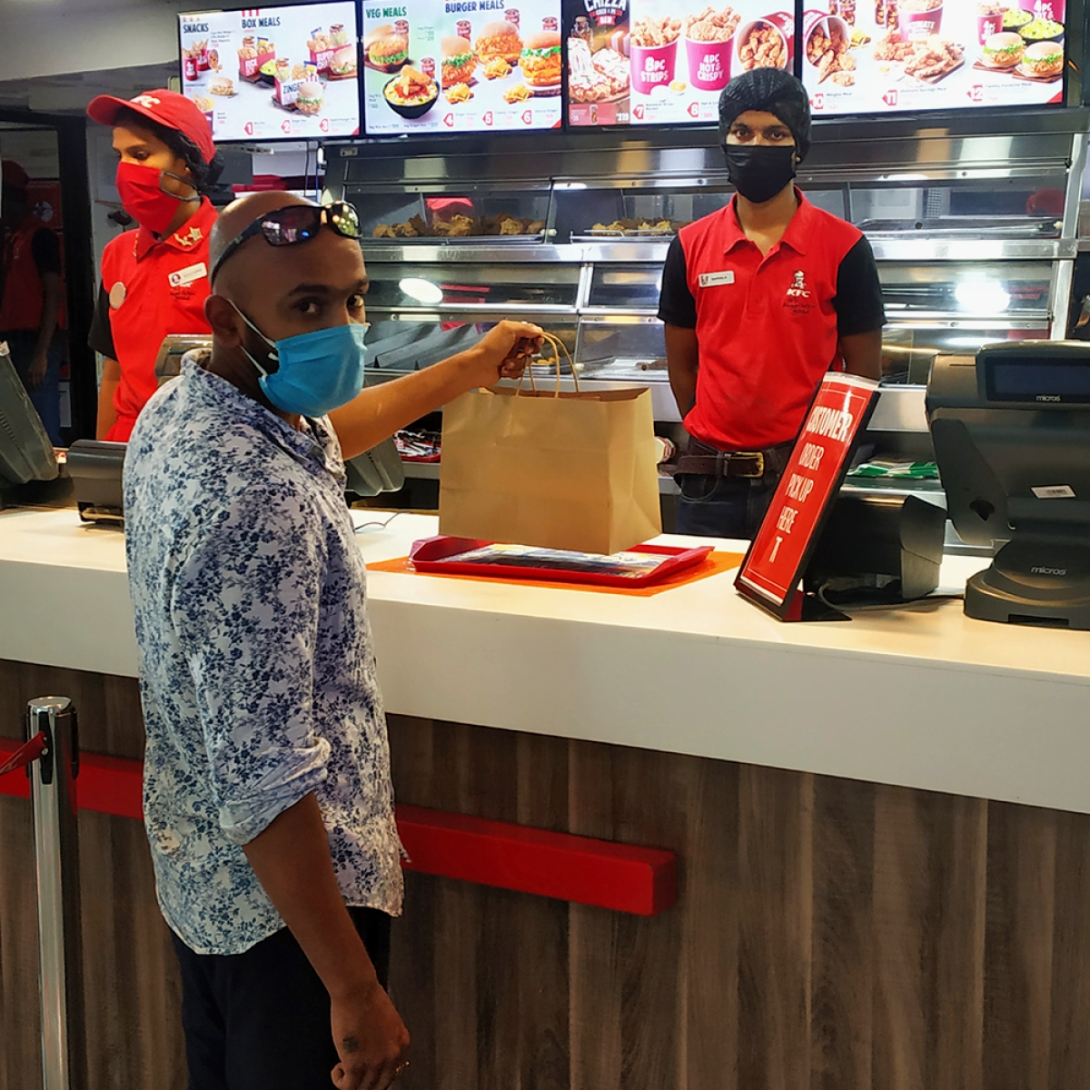 KFC goes contactless with takeaways and direct service to your bike and car