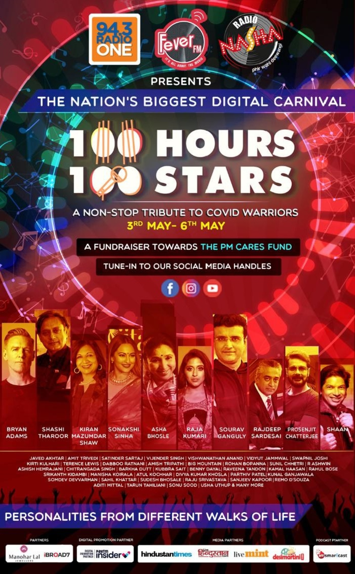 Fever Network's '100 Hours 100 Stars – Wraps up with the biggest names from different walks of life'