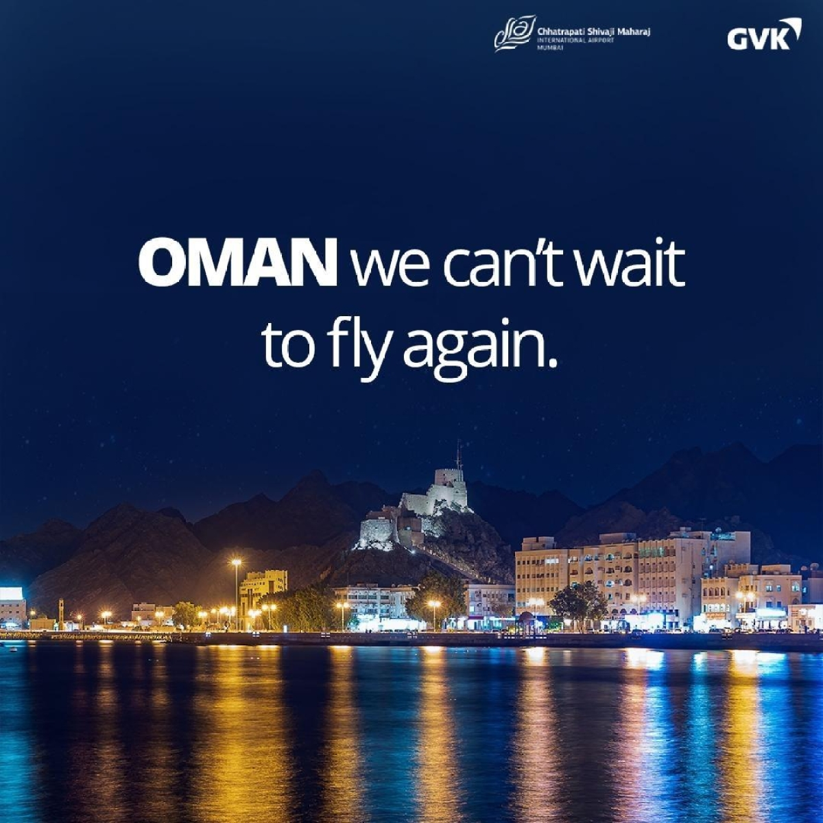 """Oman, we can't wait to fly again"": Mumbai Airport"