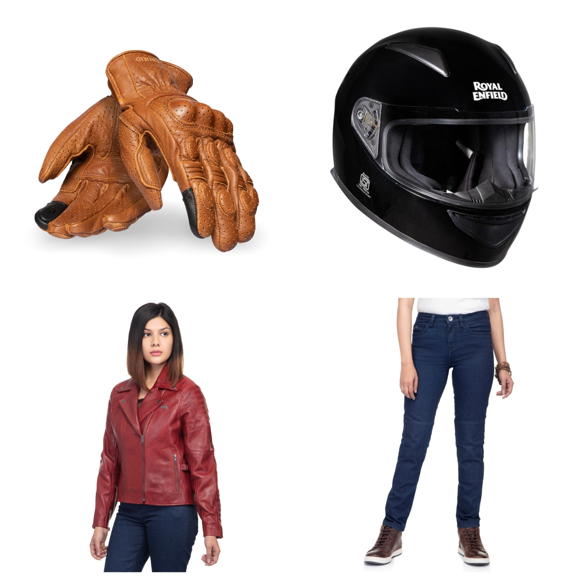 Some of the products from Royal Enfield's Apparel for women collection