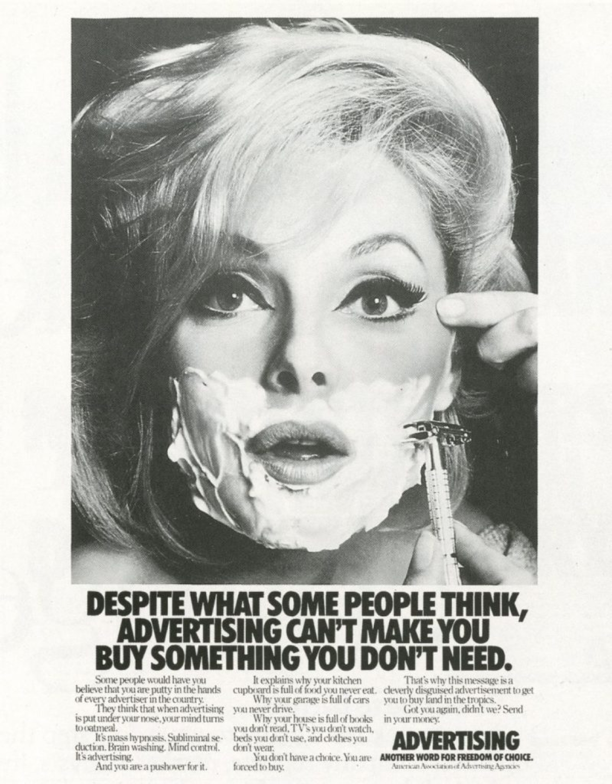 An ad about advertising by the American Association of Advertising Agencies