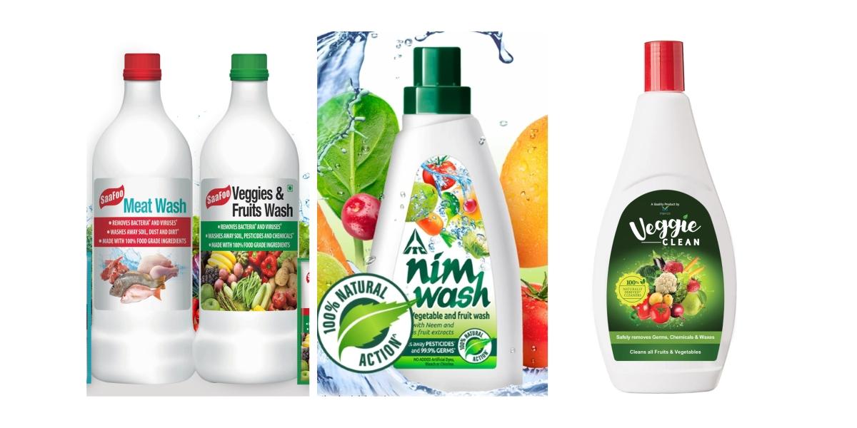 Liquid vegetable wash solutions