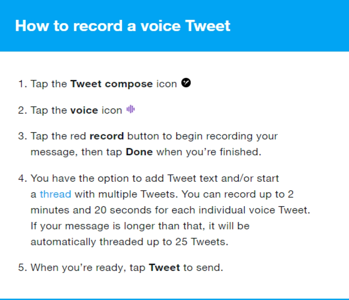 Twitter introduces voice tweets, available only to select iOS users