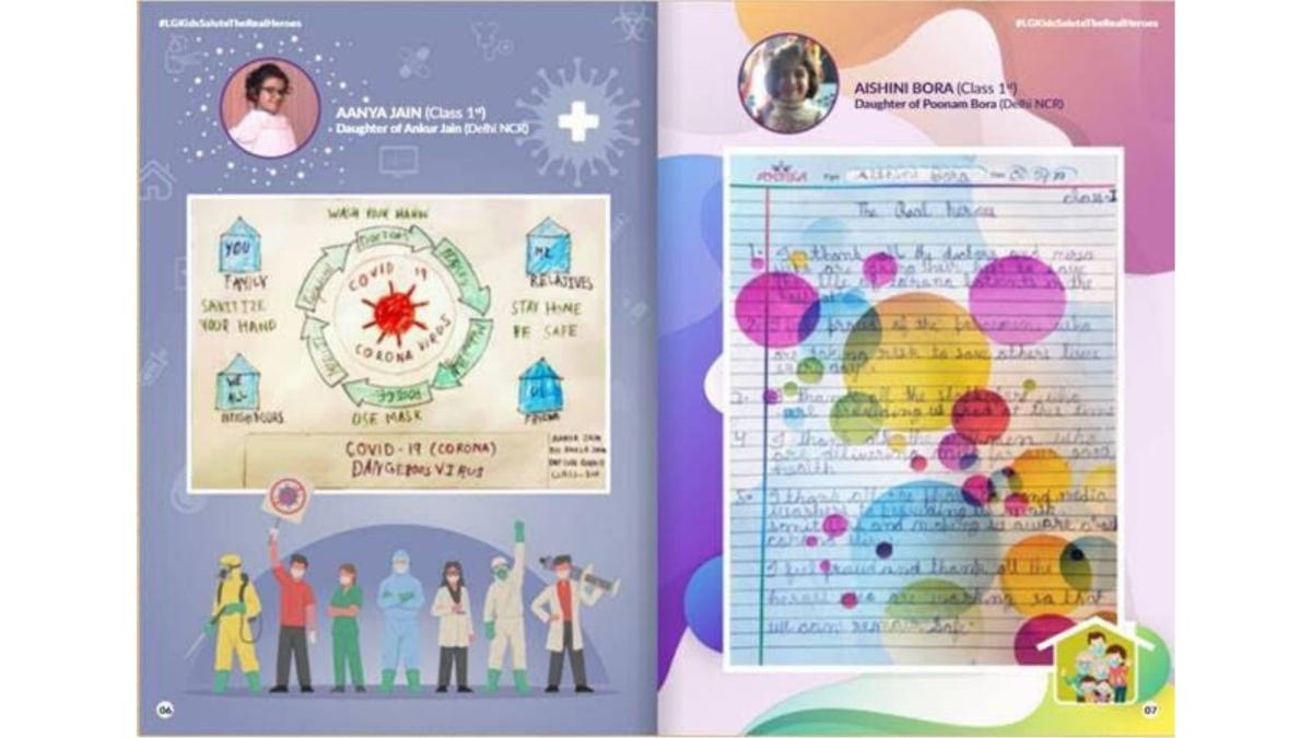 Kids of LG employees create ebook for Corona warriors