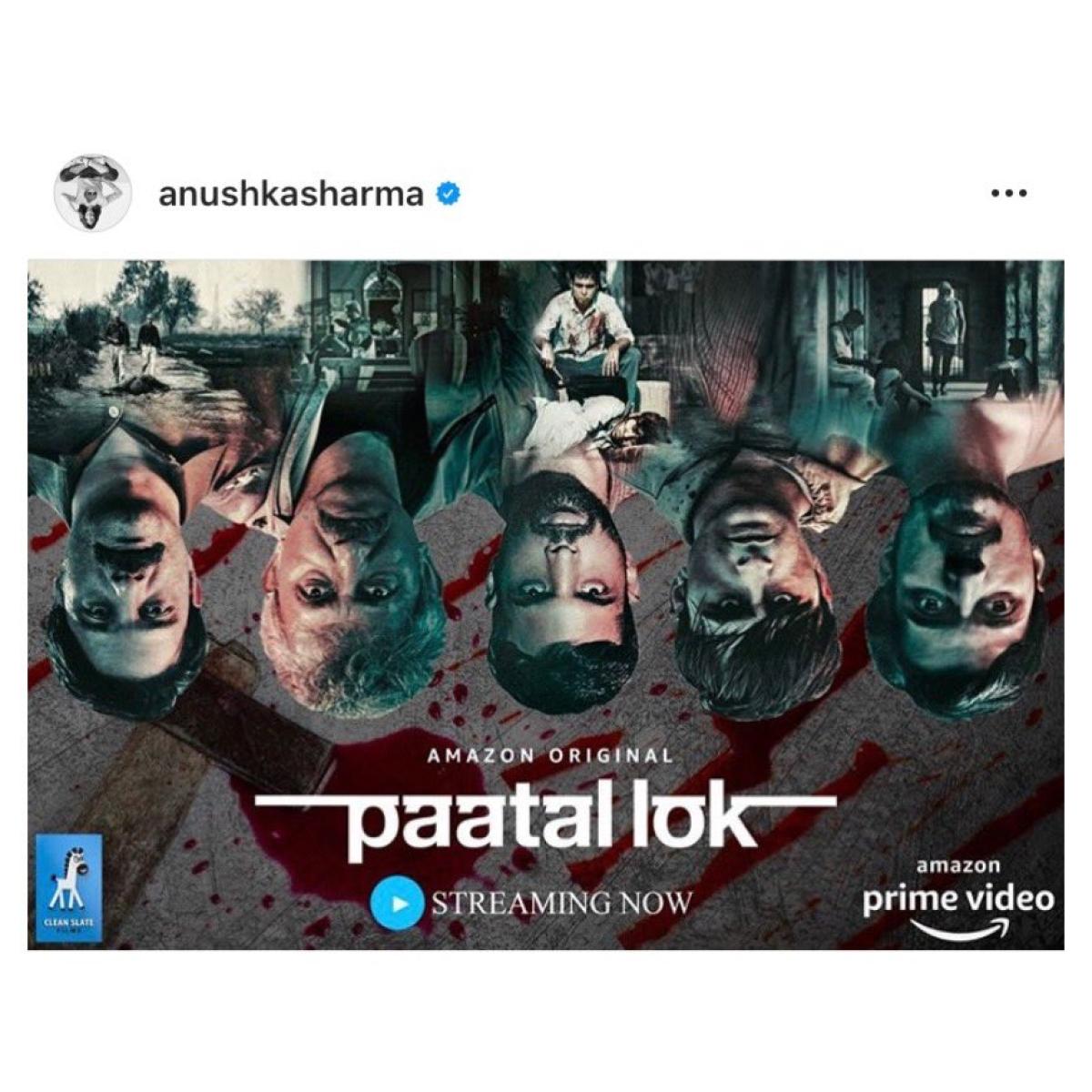 Producer of the show, Anushka Sharma promoting Paatal Lok