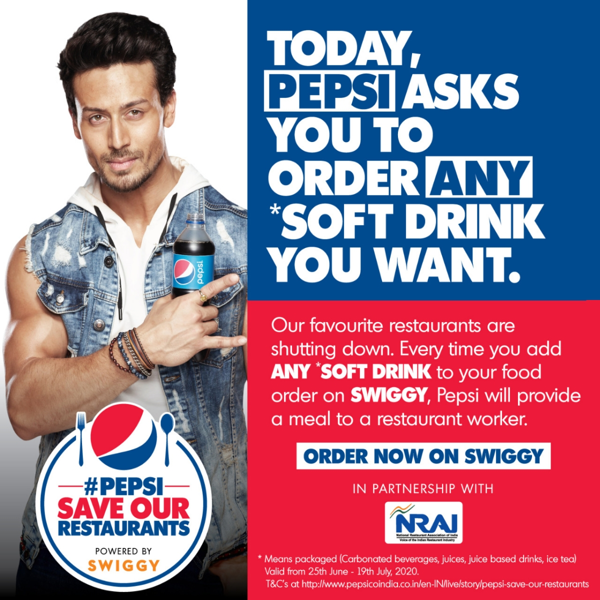 Pepsi joins hands with Swiggy and NRAI to support the restaurant community