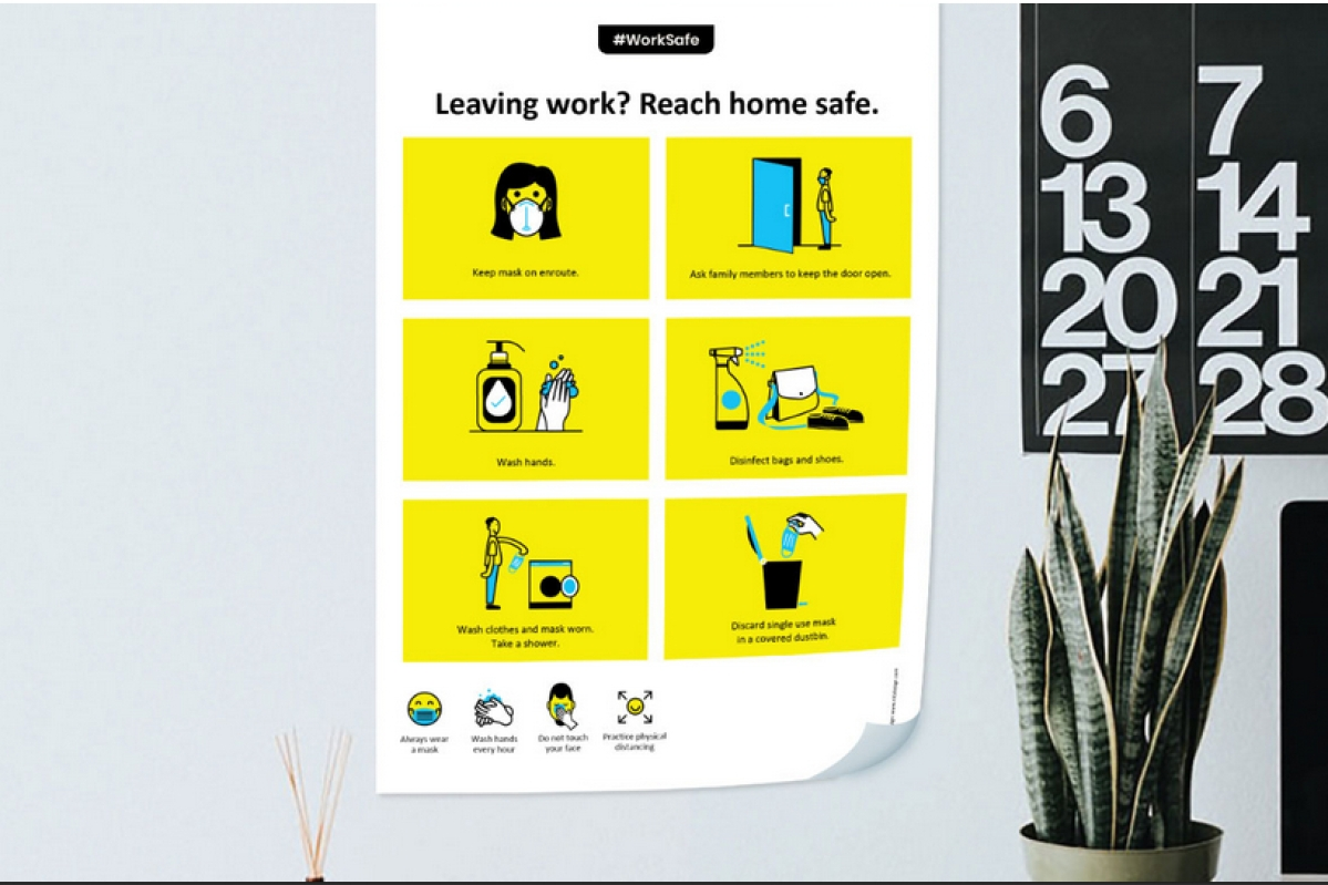 NH1 Design's free posters to guide us in a post lockdown workplace