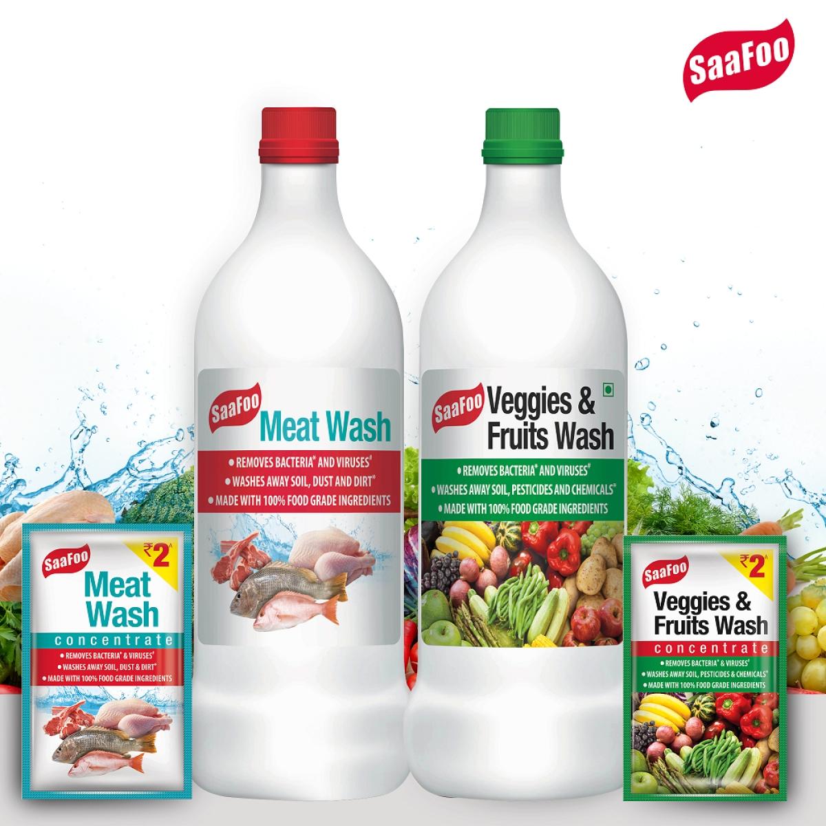 SaaFoo Meat wash and SaaFoo Veggies and Fruit Wash