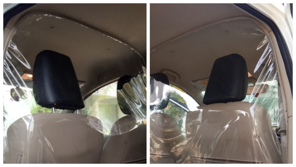 Car cabin protective partition