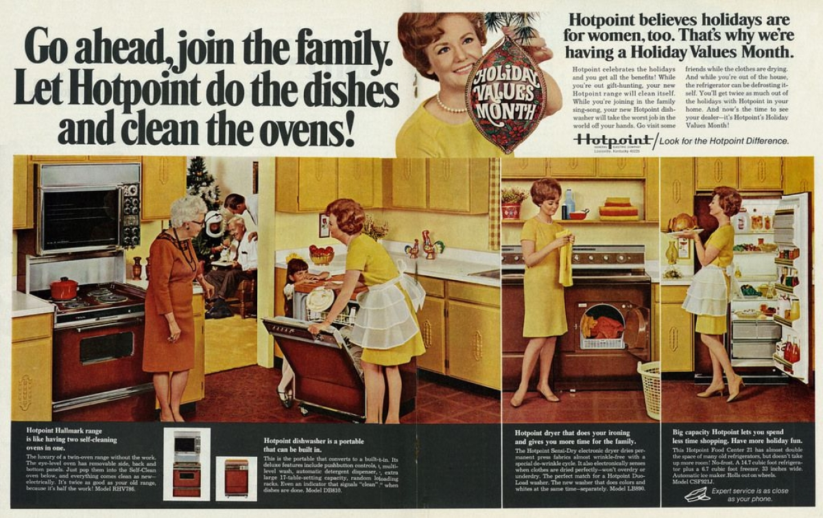 1968 Christmas Ad for Hotpoint Kitchen