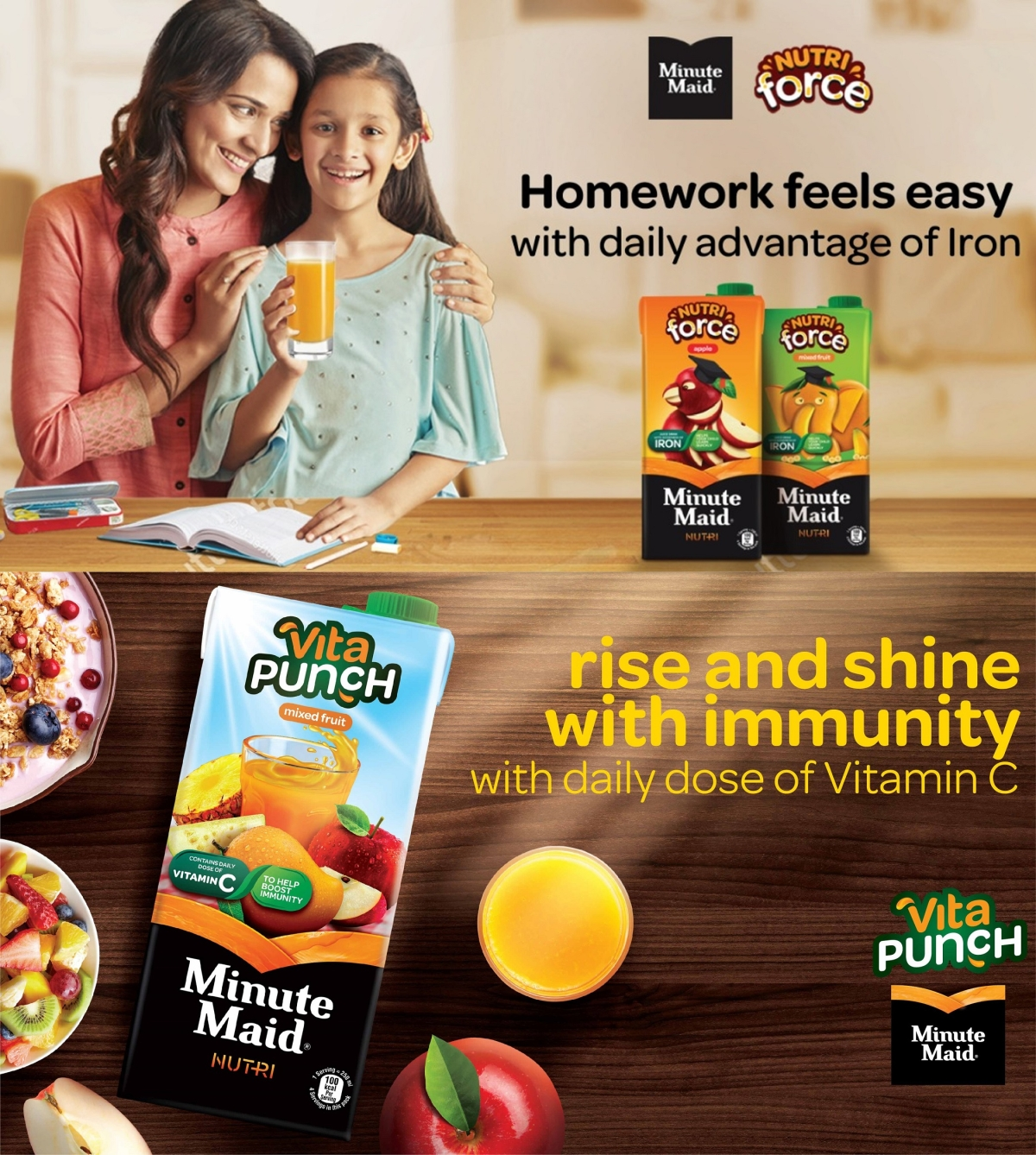 Minute Maid Nutri Force and Minute Maid Vita Punch