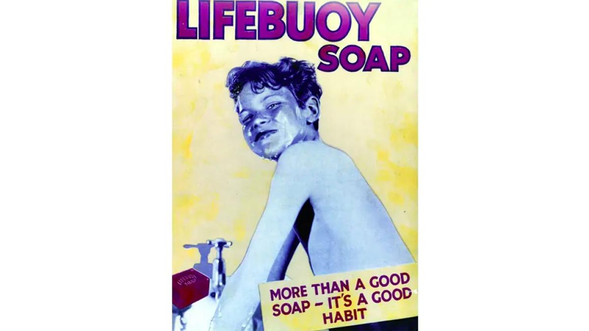 1950 - an ad on good handwashing habits