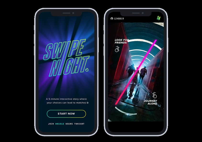 Tinder Introduces Swipe Night In India
