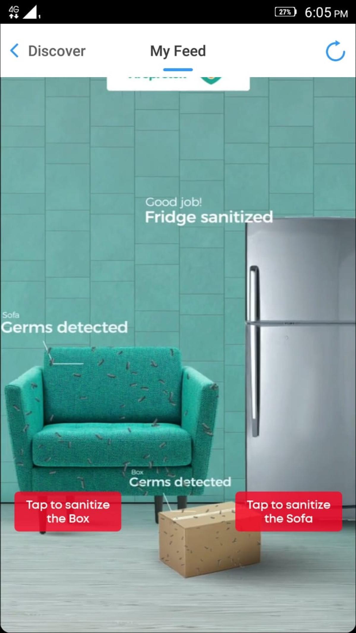 Inshorts gamifies ad for Asian Paints' sanitiser brand Viroprotek
