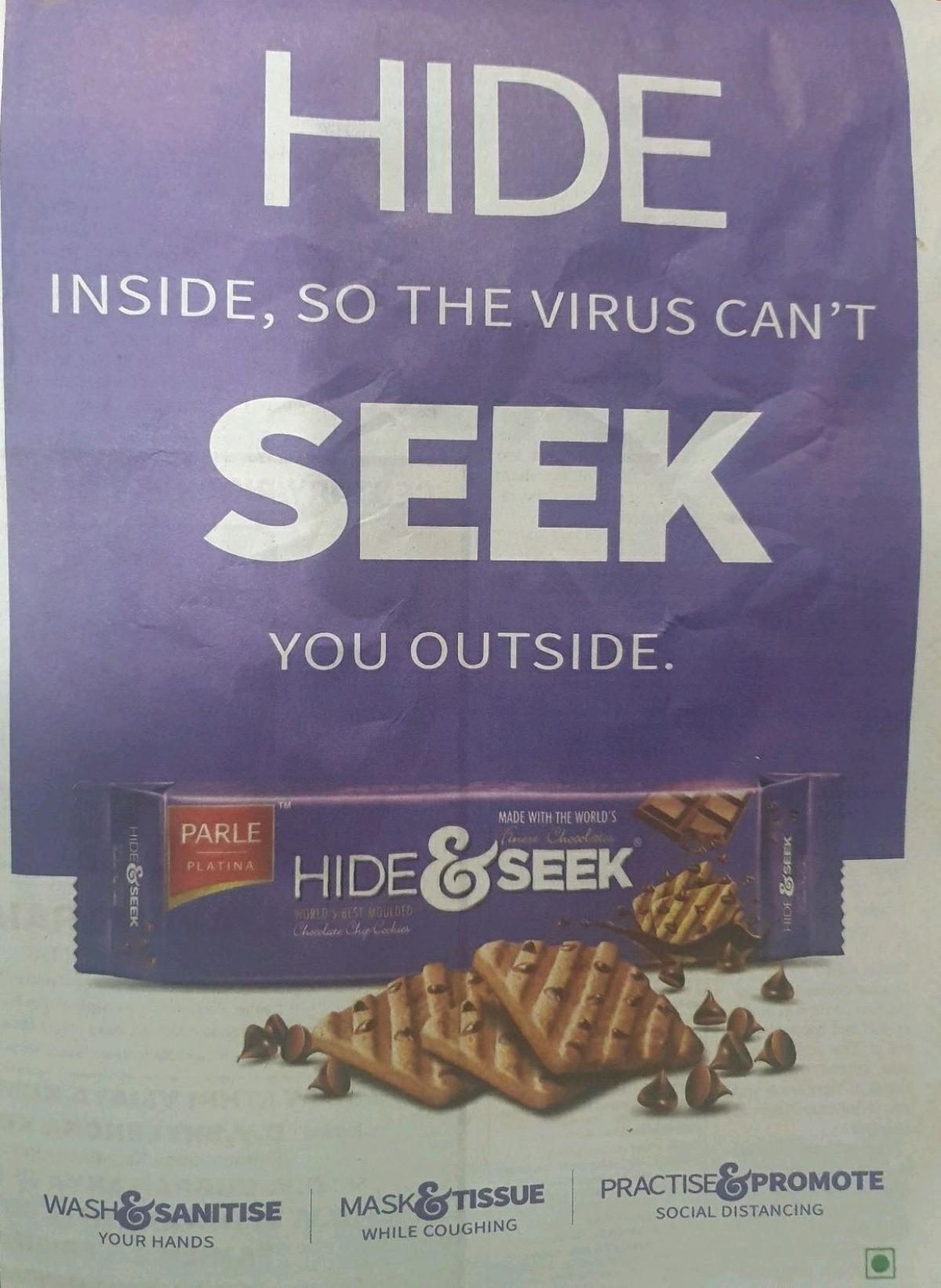 When Hide & Seek told us to hide inside from Coronavirus