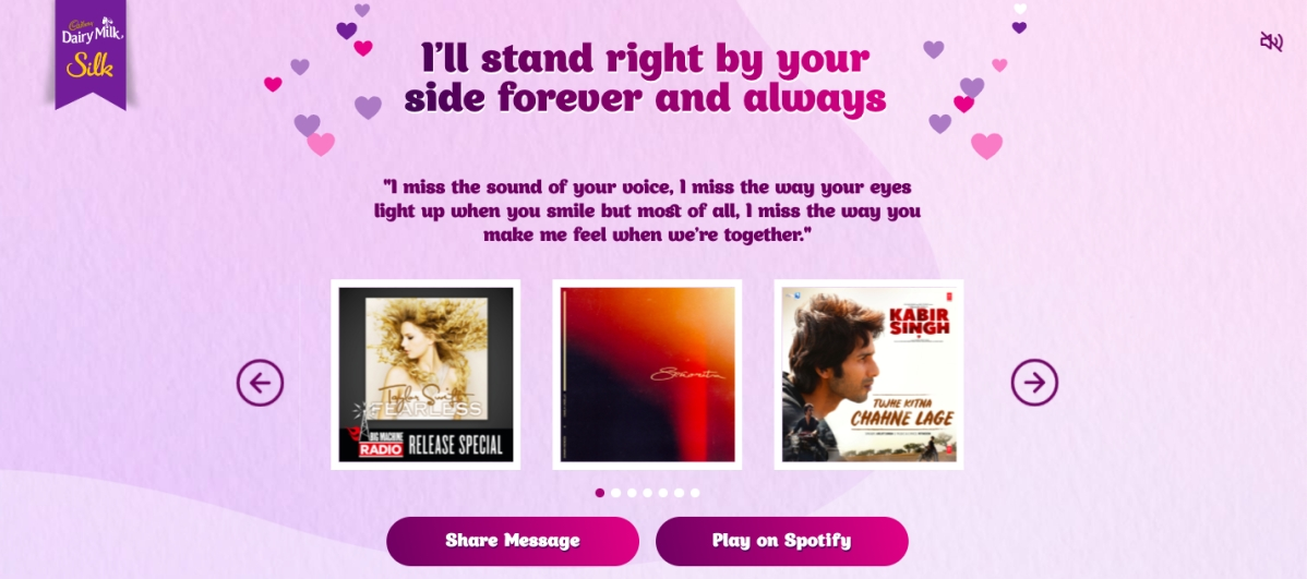 Spotify collaborates with Myntra, Cadbury Silk; creates microsites to push playlists