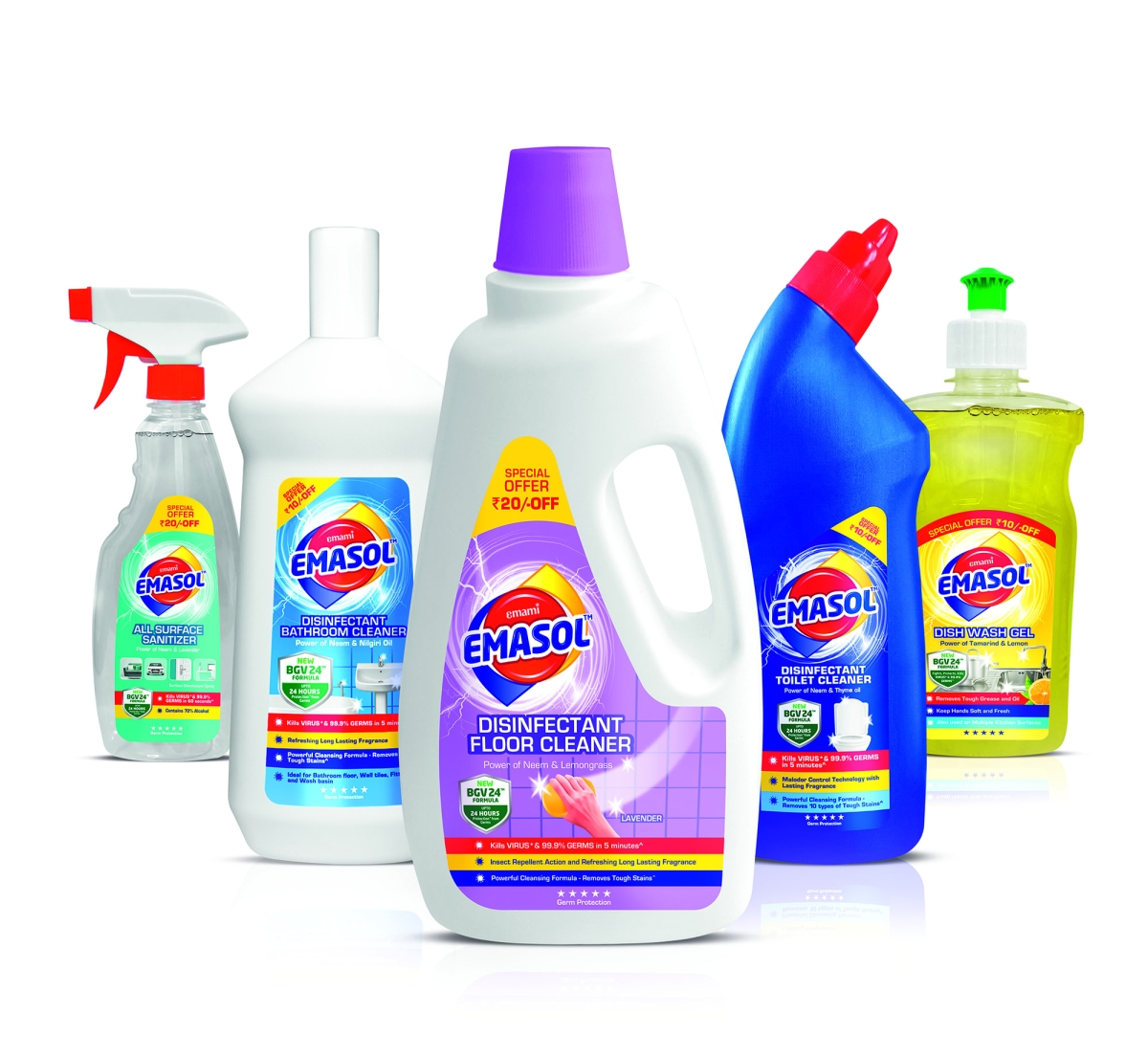EMASOL's range of home hygiene products