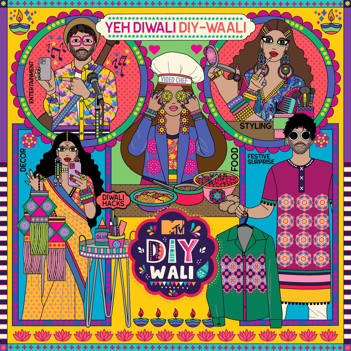 Have a #DIYwali Diwali this year with MTV India