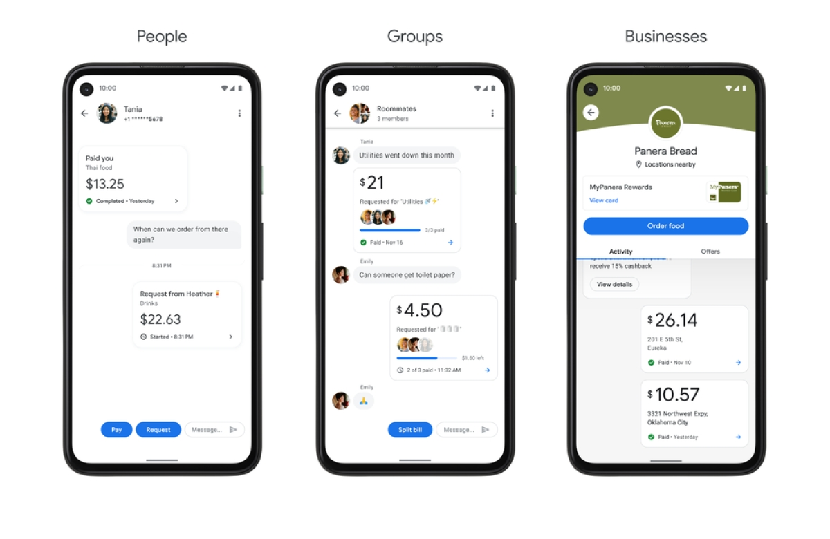 Google Pay's app interface