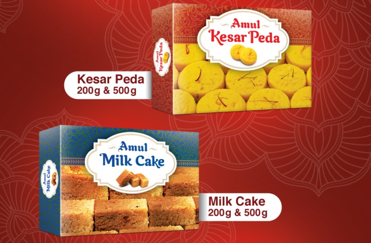 Amul peda and milk cake