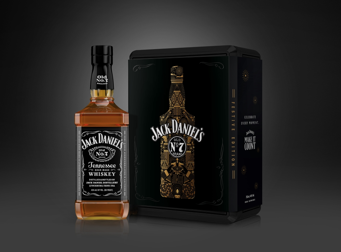 """""""The idea was to marry the masculinity of Jack Daniel's to the festive season..."""""""