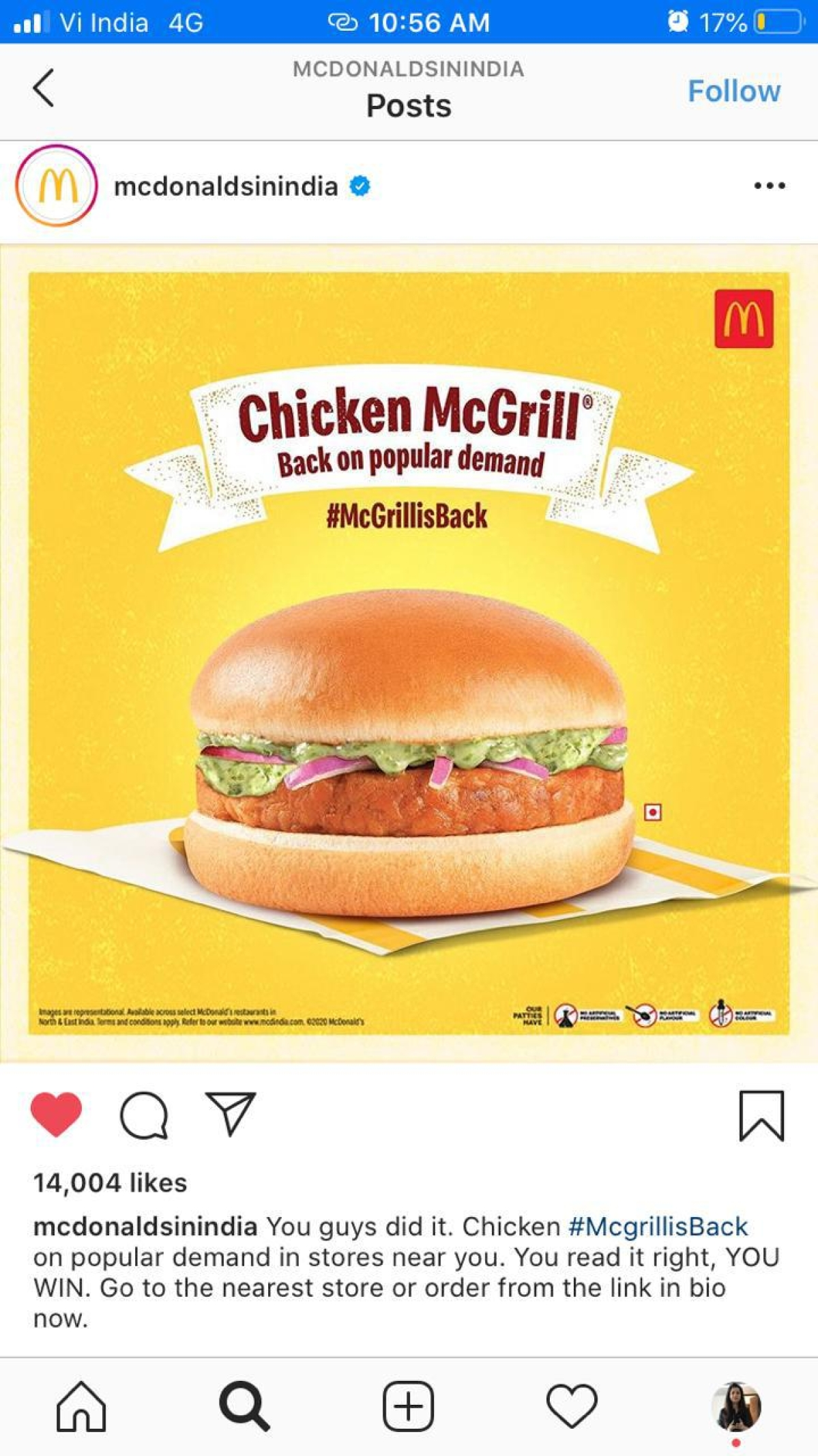 McDonald's re-introduces Chicken McGrill after netizens urge the brand to #BringMcGrillBack