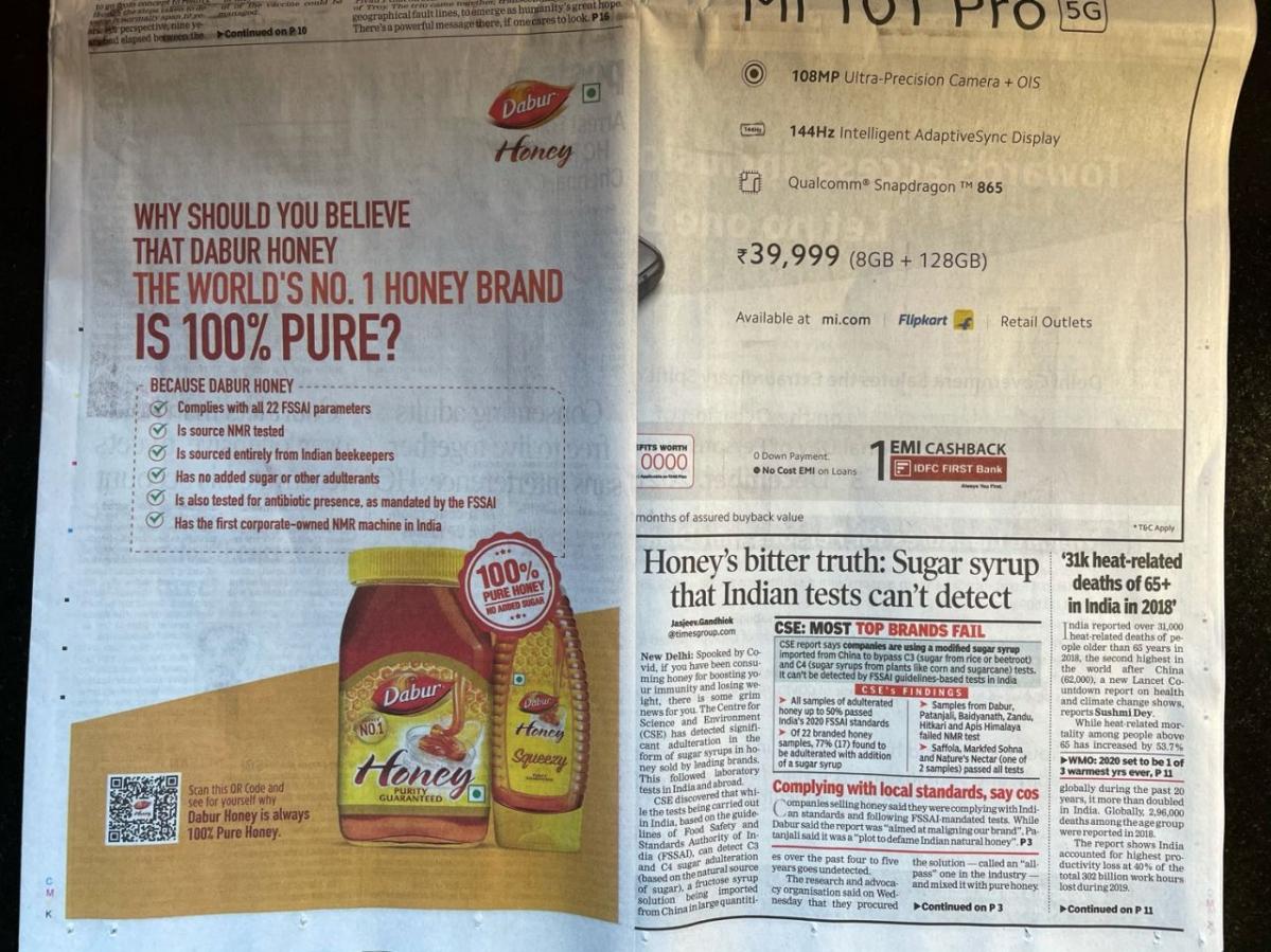 Pure hai na? Major honey brands like Dabur, Patanjali, and Emami fail adulteration test