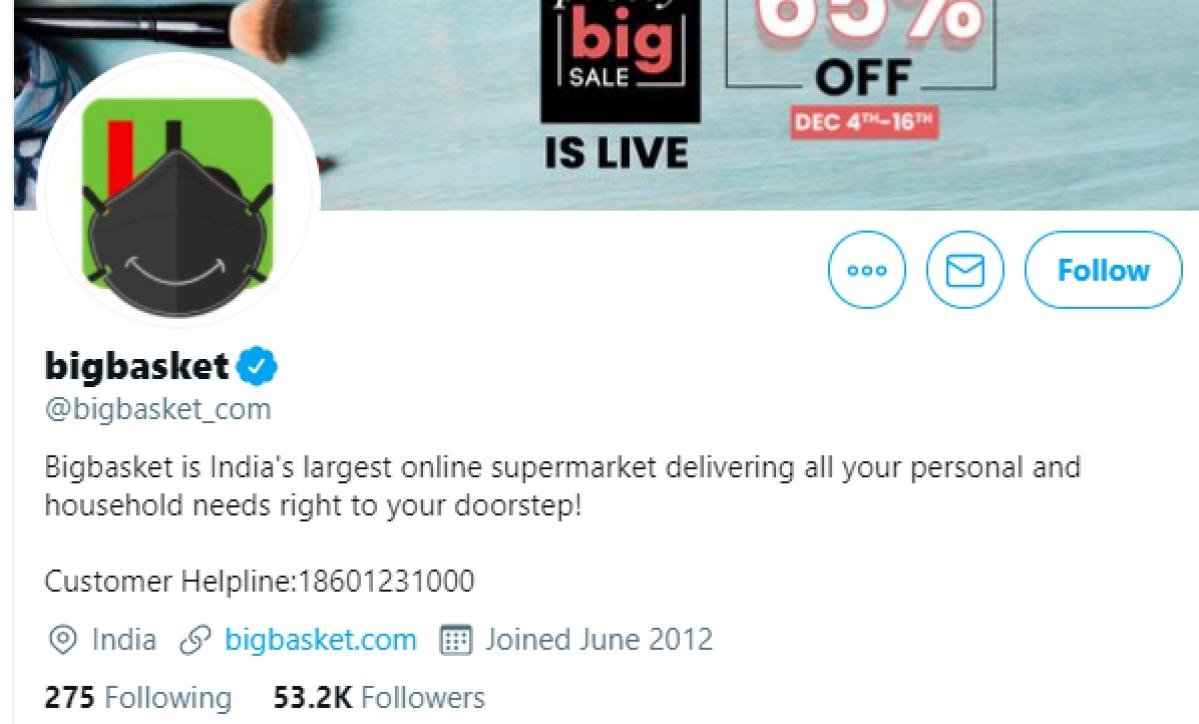 Bigbasket's Twitter handle