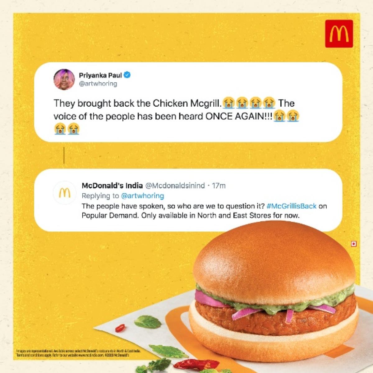 McDonald's new spots celebrate the comeback of Chicken McGrill burger