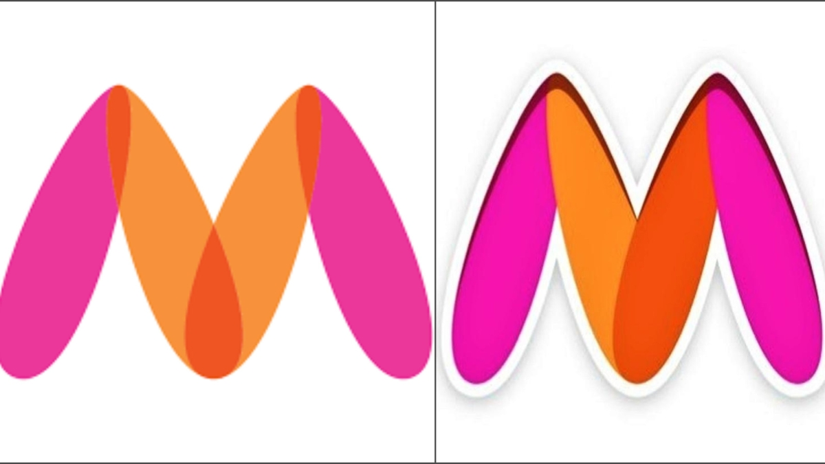Myntra's old logo (L) and new one (R)