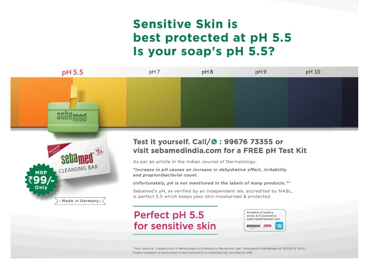 Sebamed's Times of India ad