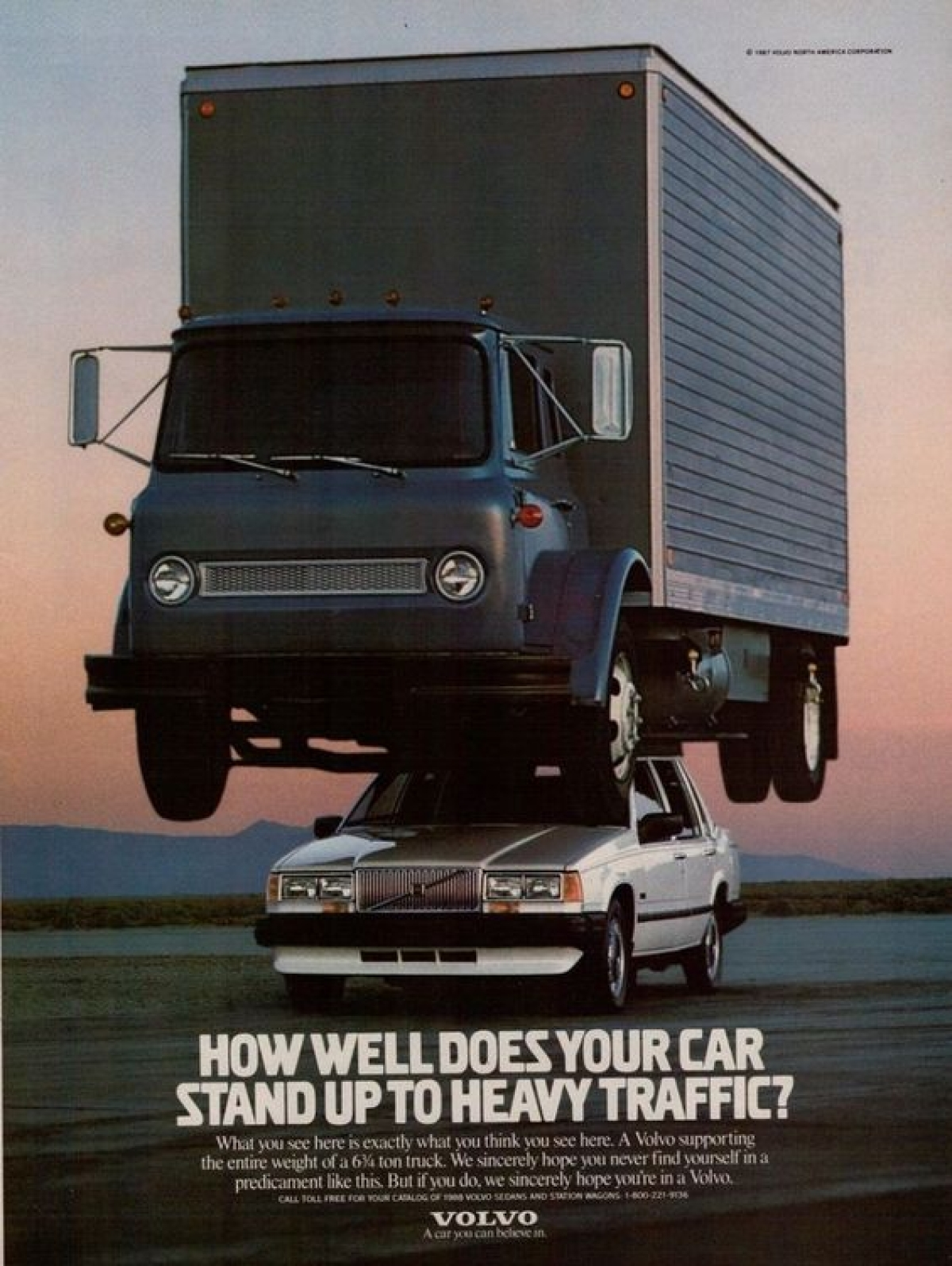 1988 Print ad for Volvo 740 Sedan