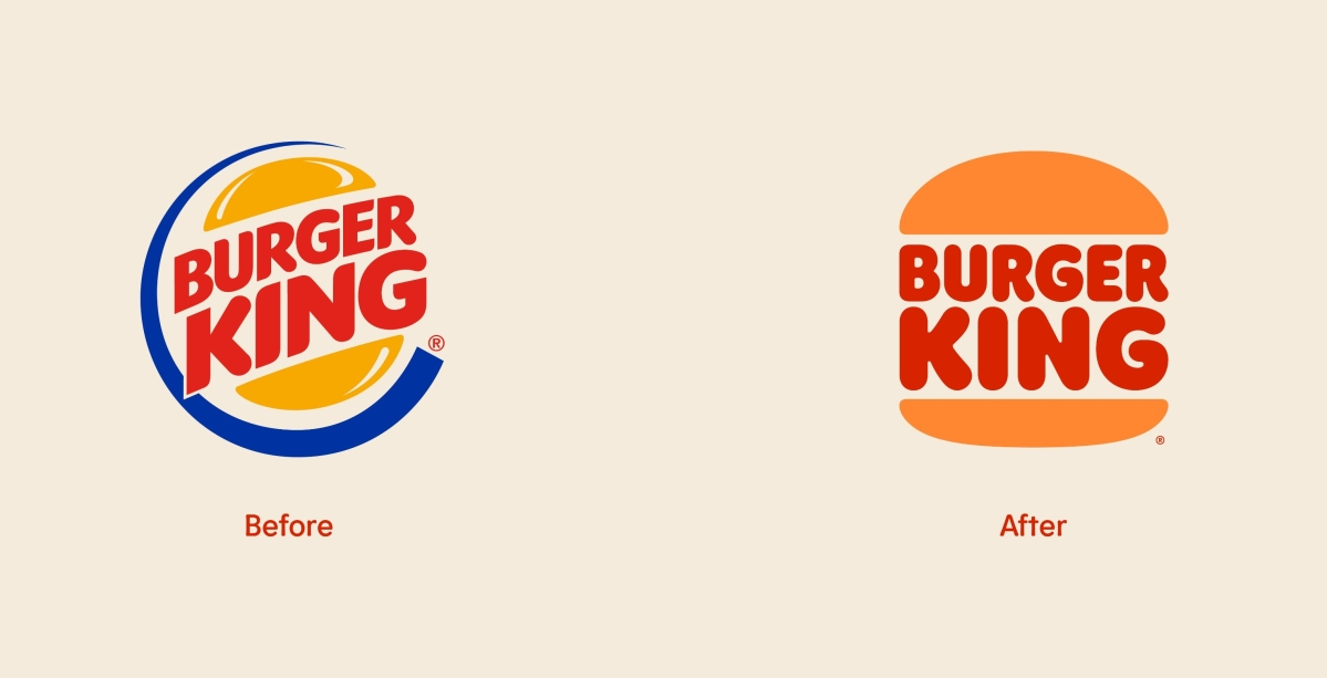 Burger King's old and new logo