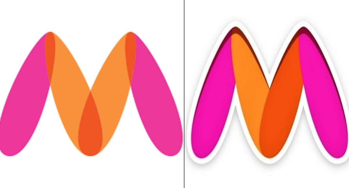 Myntra old (L) vs new logo (R)