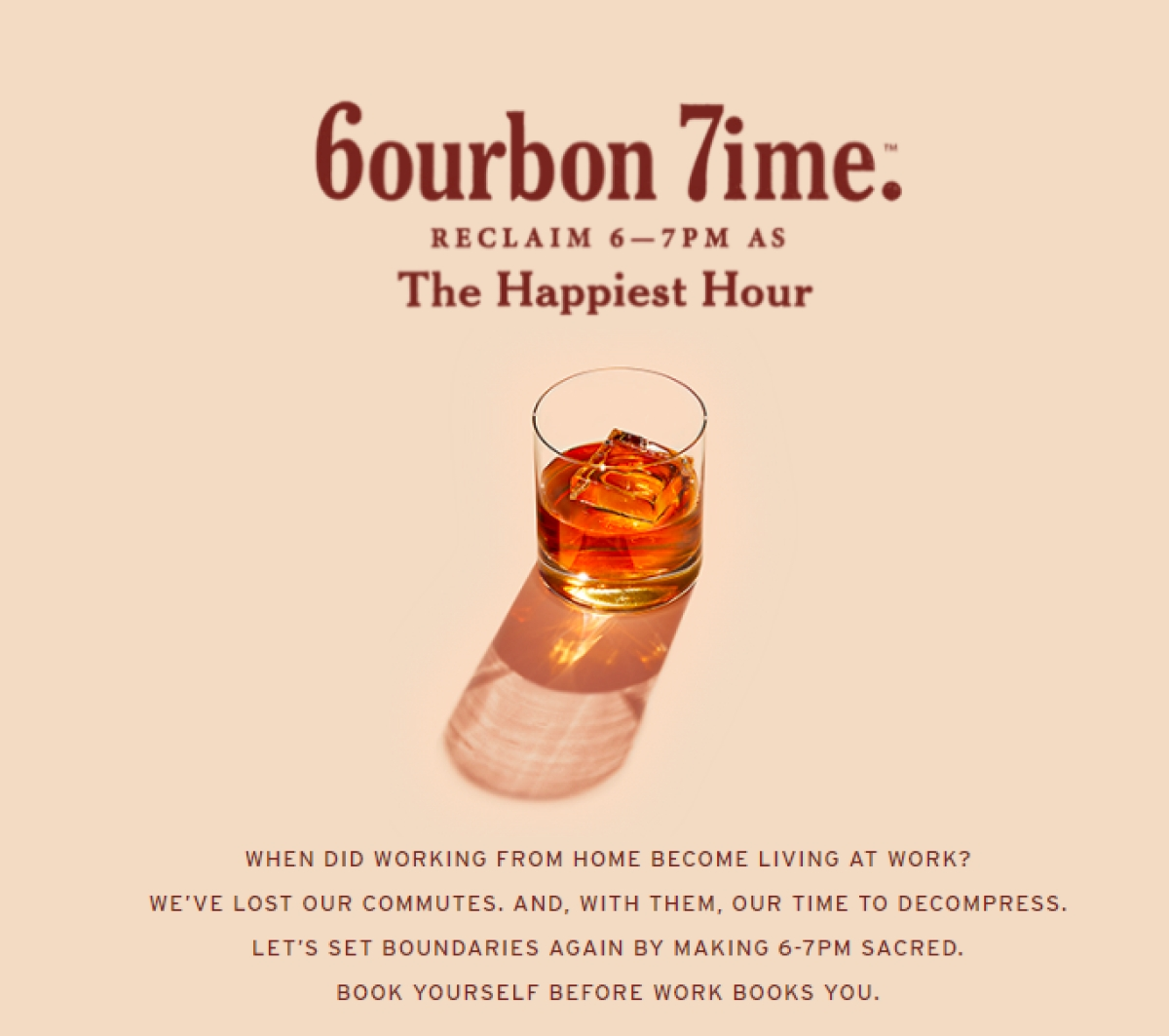 Beam Suntory wants you to reclaim 6-7 pm as 6ourbon 7ime