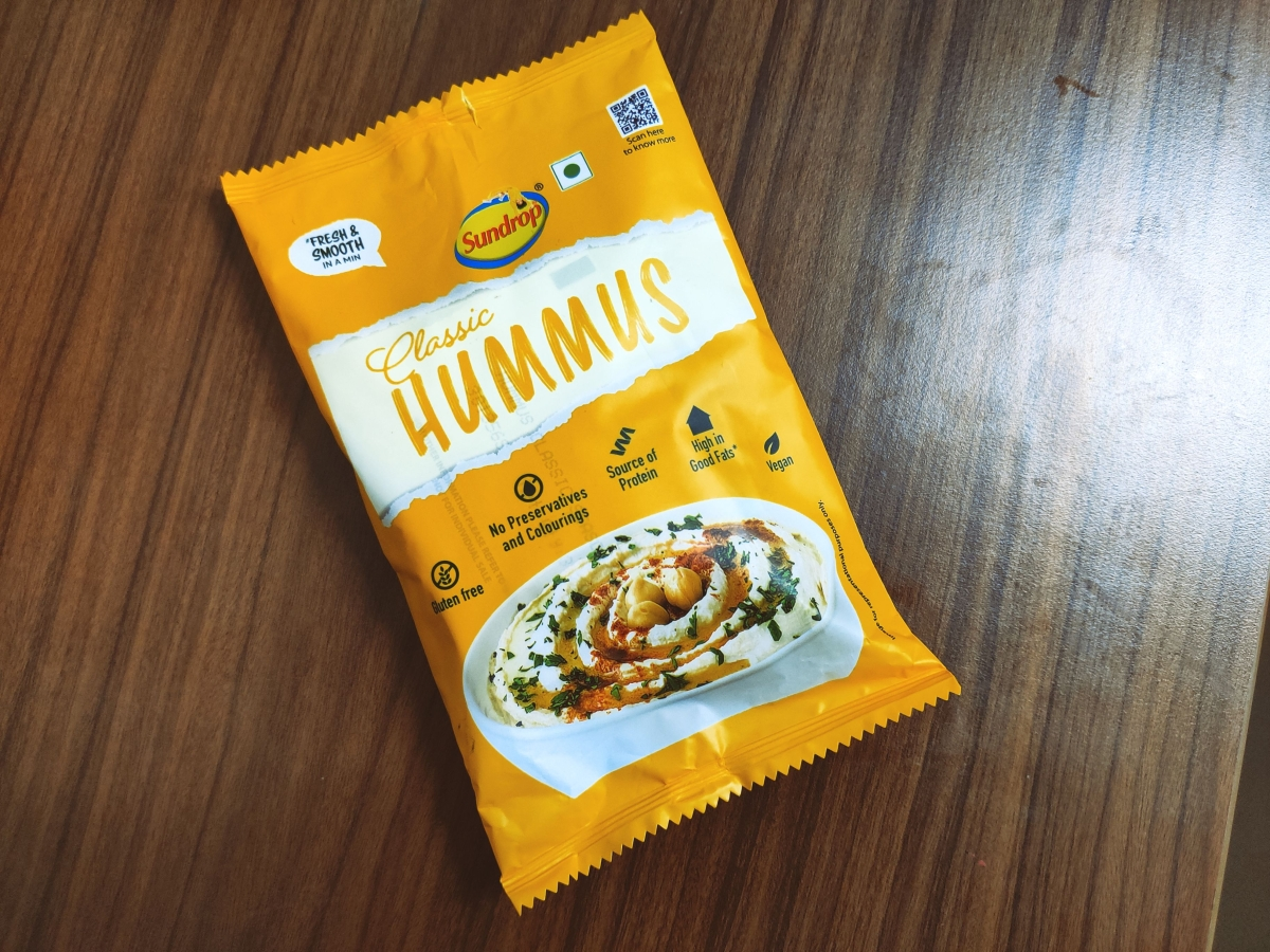 Sundrop's ready to eat 'Classic' hummus