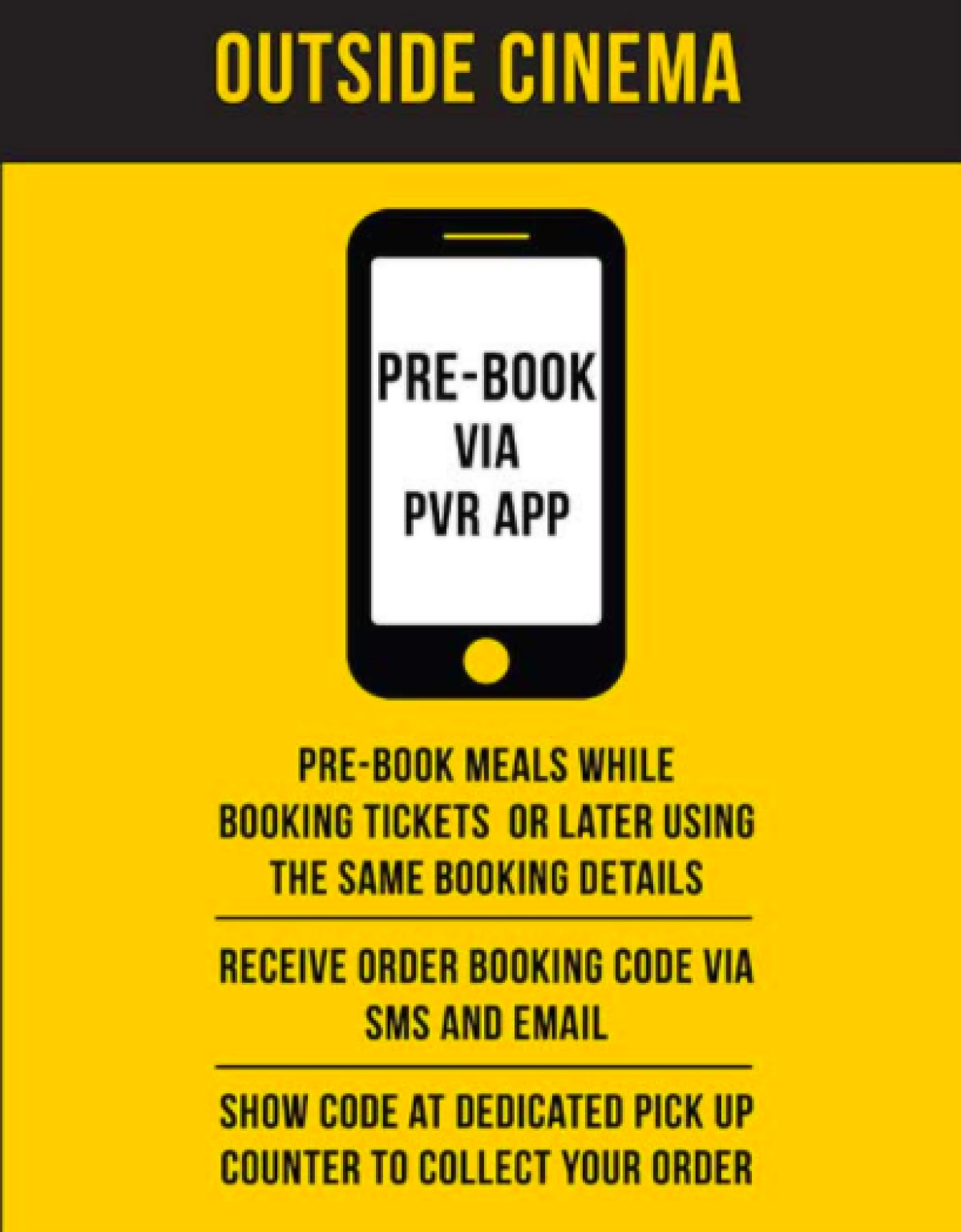 PVR pushes for contactless snack ordering in mailer campaign