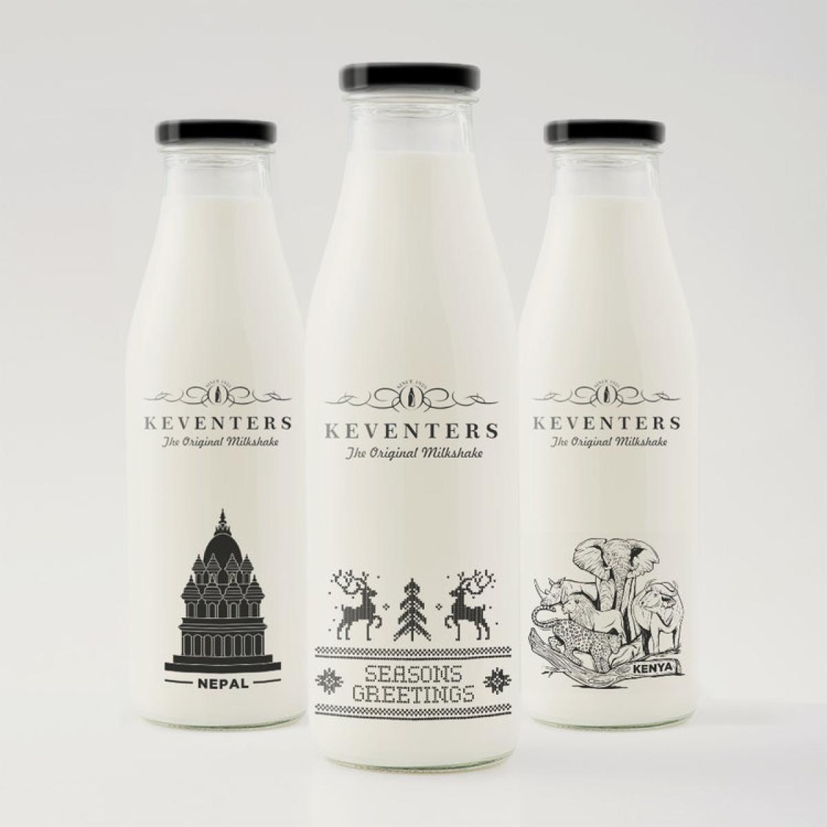 Animal's work for Keventer's bottles