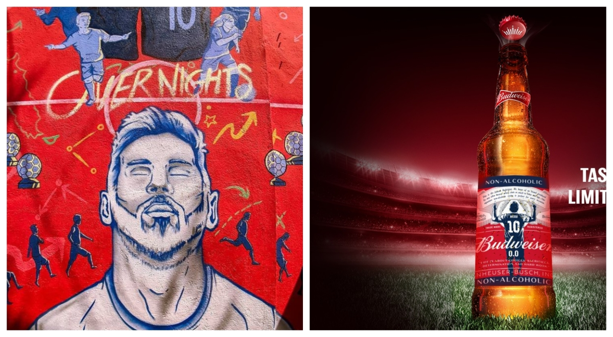 Budweiser celebrates Messi's journey in murals, special edition bottles