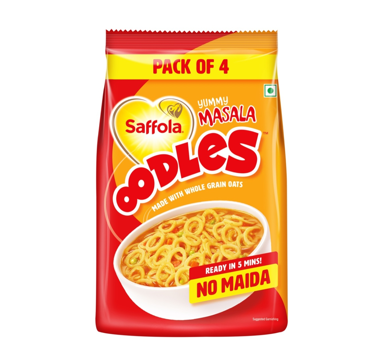 Is Maggi's '2 minute' proposition sandwiched between Saffola's '5 minutes' and Wai Wai's '0 minutes'?