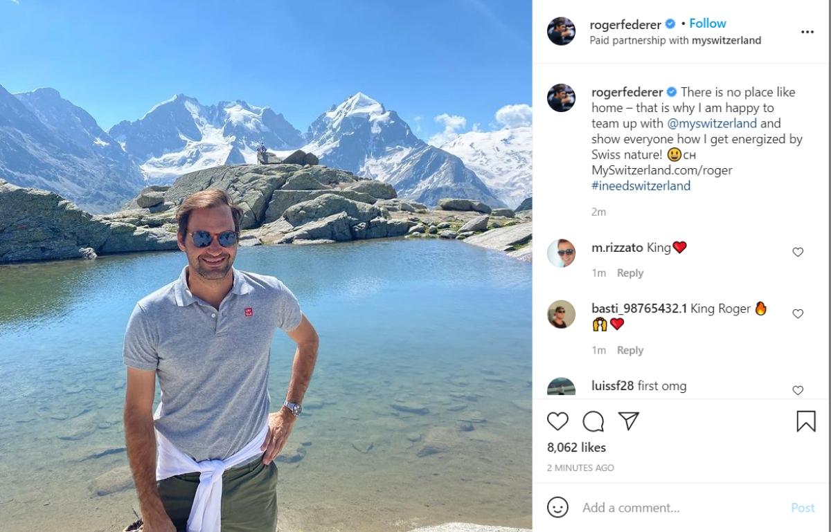 Roger Federer teams up with Switzerland Tourism as its brand ambassador