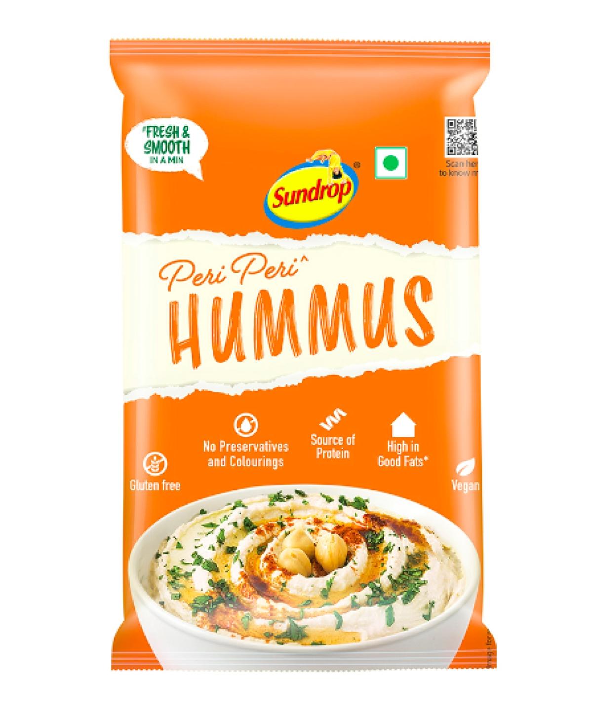 Sundrop's ready to eat 'Peri Peri' hummus