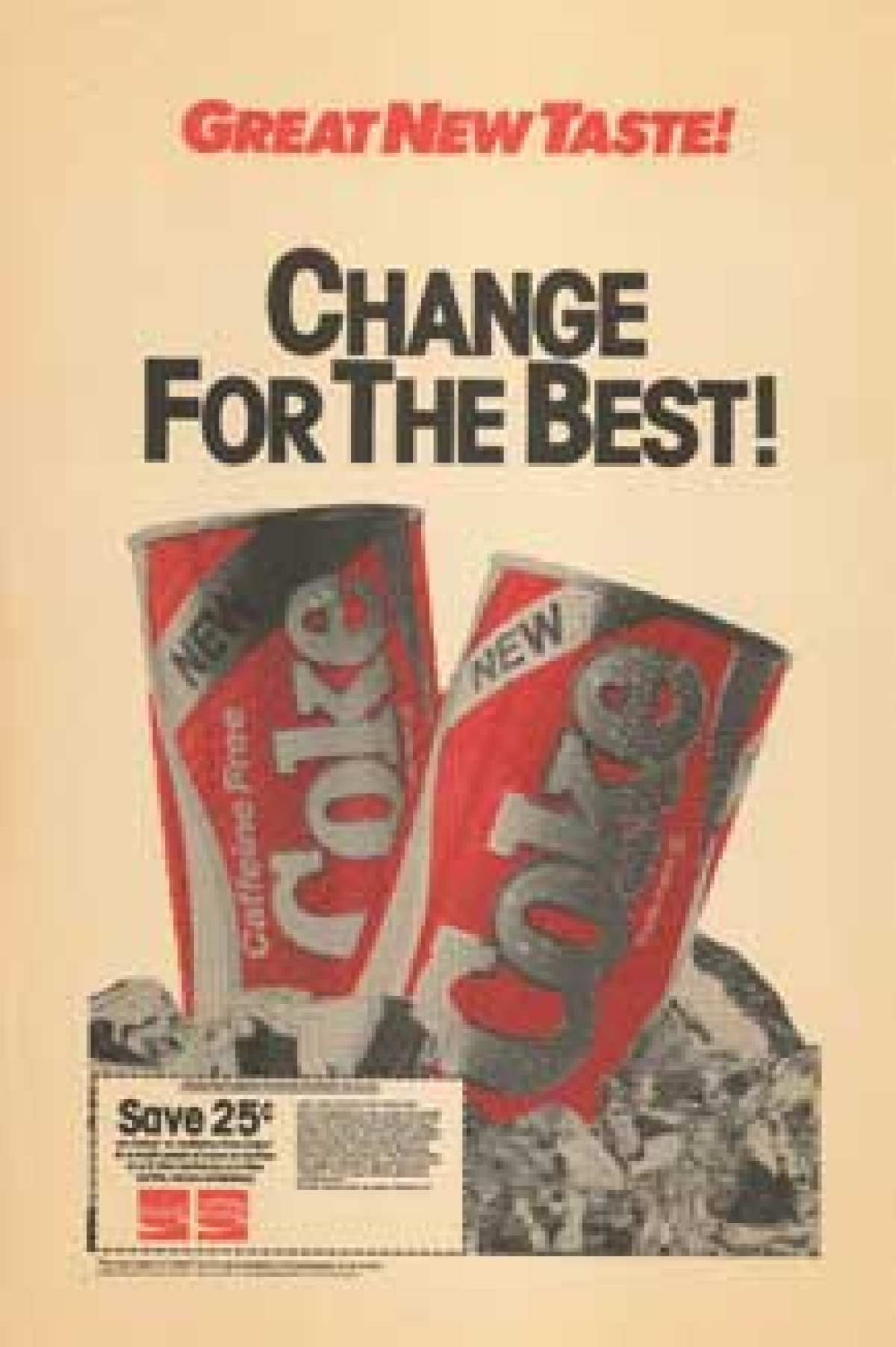 Vintage ad of Coca Cola with the new formula