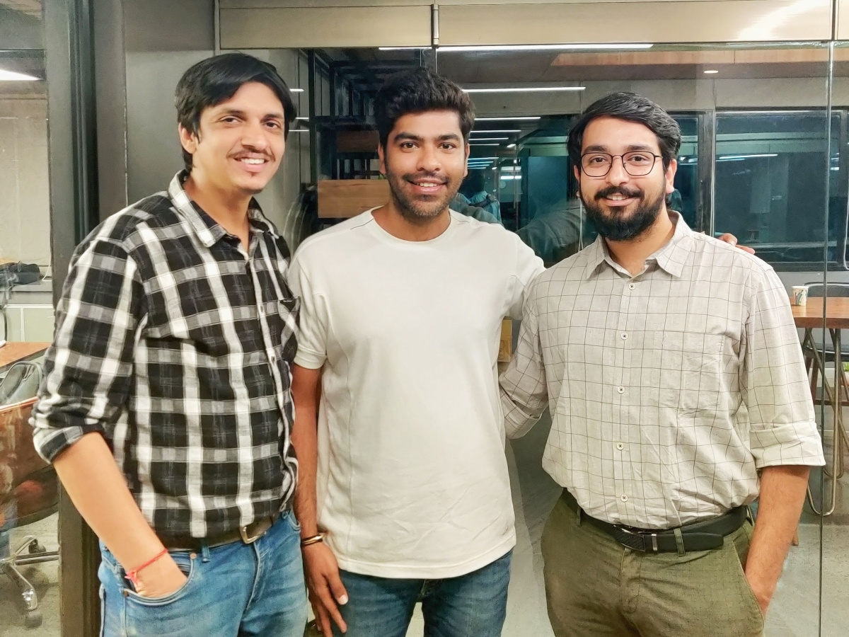 (L-R) Shivank Agarwal, Co-Founder & CEO, Rumit Anand, Vice President (Product) and Anish Khandelwal, Co-Founder & CTO - Mitron TV