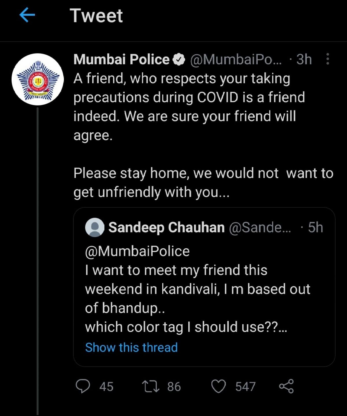 """How is Mumbai Police and its """"Twitter Madam"""" dealing with the outlandishness of recent times?"""