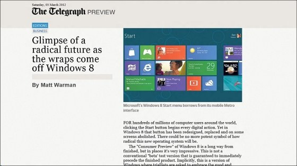 Windows 8: Set for the new screen wars?