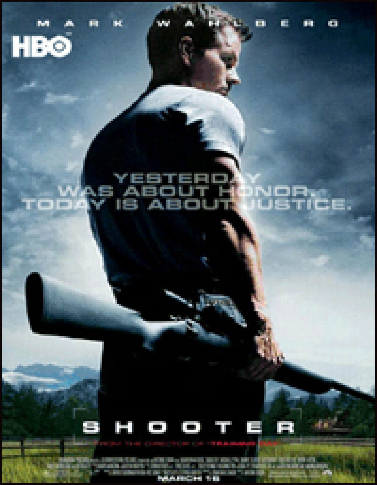 Don't forget to catch the TV premiere of the action adventure film 'Shooter' on HBO